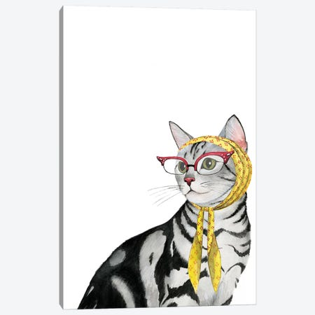 Cool Cat III Canvas Print #POP320} by Grace Popp Canvas Print