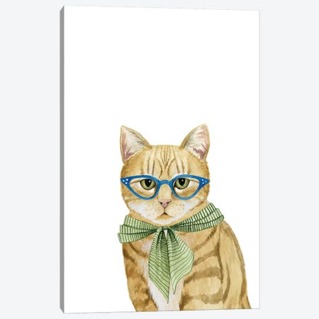Cool Cat IV Canvas Print #POP321} by Grace Popp Canvas Print