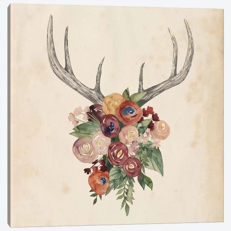 Flower Antlers I Canvas Print #POP328} by Grace Popp Art Print