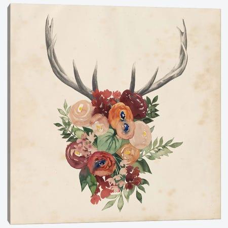 Flower Antlers II Canvas Print #POP329} by Grace Popp Canvas Print