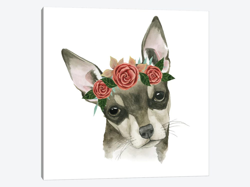 Flower Crown Pup III by Grace Popp 1-piece Art Print