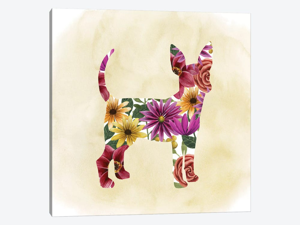 Flower Power Pup I by Grace Popp 1-piece Canvas Art Print