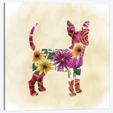 Flower Power Pup I Canvas Print #POP334} by Grace Popp Canvas Art Print