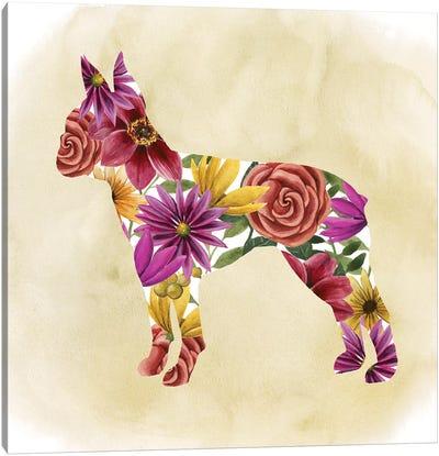 Flower Power Pup II Canvas Art Print