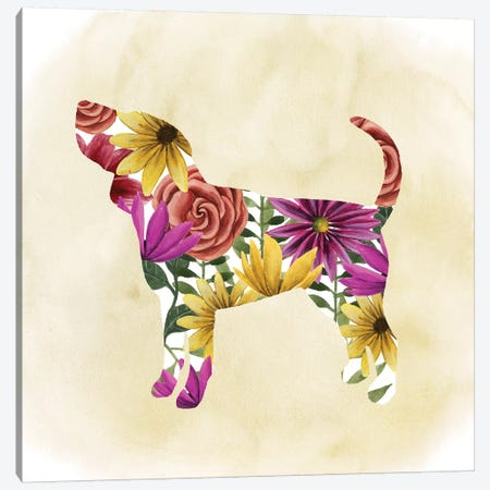 Flower Power Pup IV Canvas Print #POP337} by Grace Popp Canvas Art Print