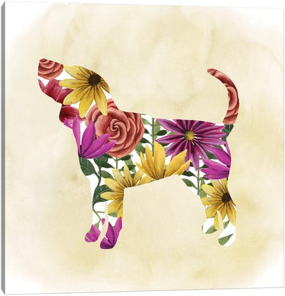 Flower Power Pup IV Canvas Art Print