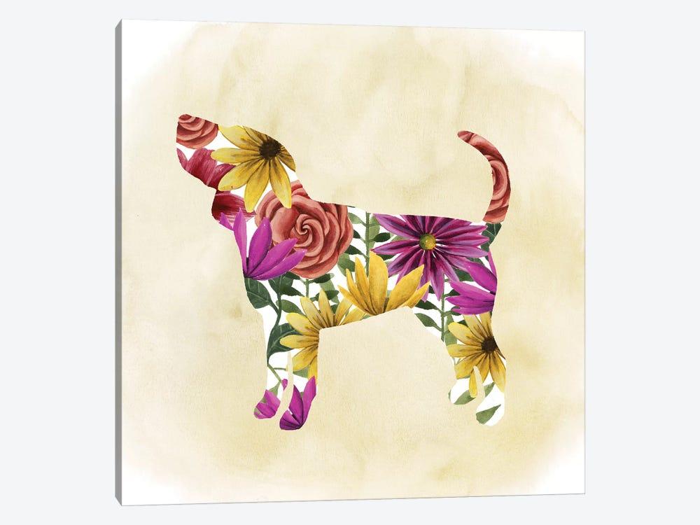 Flower Power Pup IV by Grace Popp 1-piece Canvas Artwork
