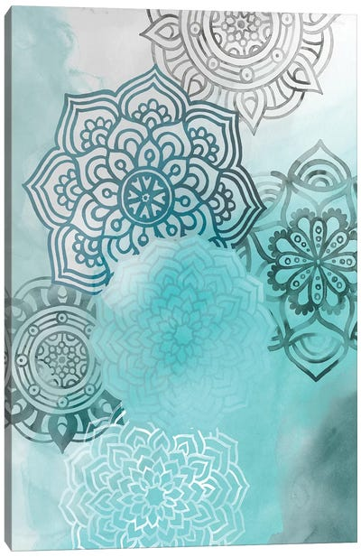 Ink Blot Mandala I Canvas Art Print