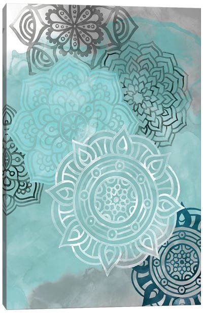 Ink Blot Mandala II Canvas Art Print