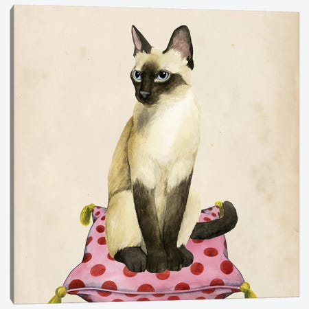 Lady Cat II Canvas Print #POP345} by Grace Popp Canvas Wall Art