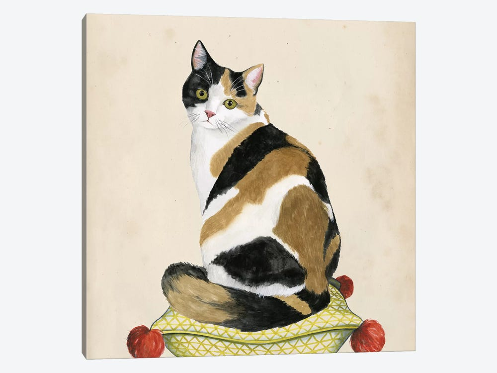 Lady Cat III by Grace Popp 1-piece Canvas Artwork