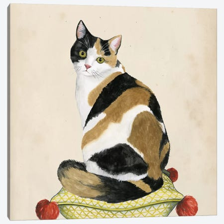 Lady Cat III Canvas Print #POP346} by Grace Popp Canvas Artwork