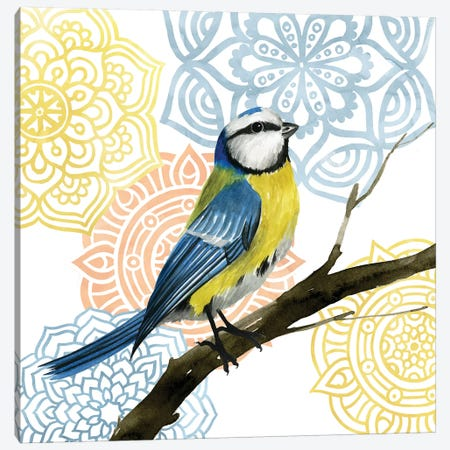 Mandala Bird I Canvas Print #POP350} by Grace Popp Canvas Art
