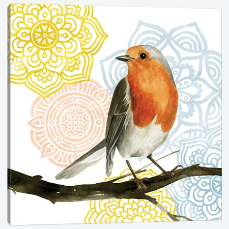 Mandala Bird IV Canvas Print #POP353} by Grace Popp Canvas Artwork