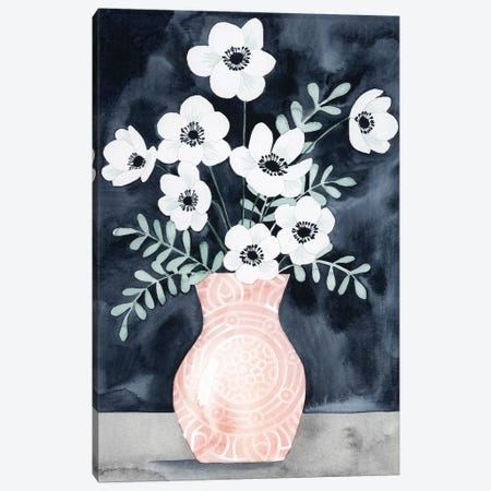 Nighttime Anemones I Canvas Print #POP360} by Grace Popp Canvas Art Print