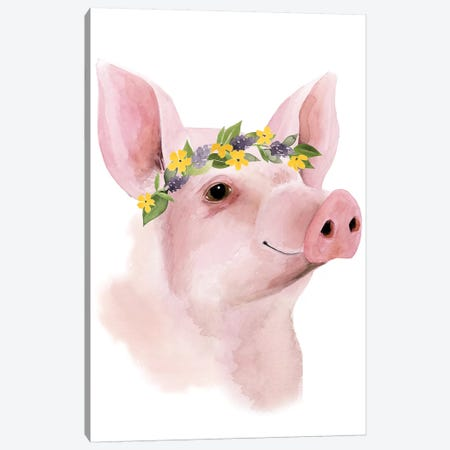 Precious Barnyard III Canvas Print #POP368} by Grace Popp Art Print
