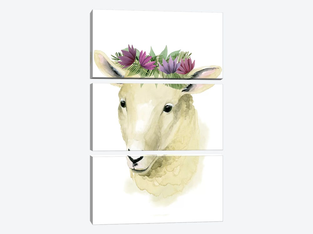 Precious Barnyard IV 3-piece Canvas Art Print