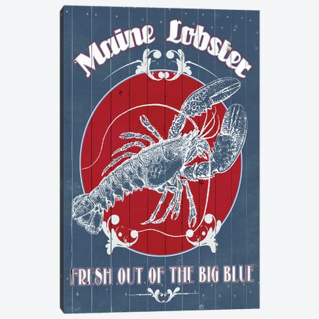 Seafood Co. II Canvas Print #POP373} by Grace Popp Canvas Artwork
