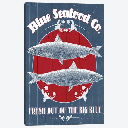 Seafood Co. IV Canvas Print #POP375} by Grace Popp Canvas Art Print