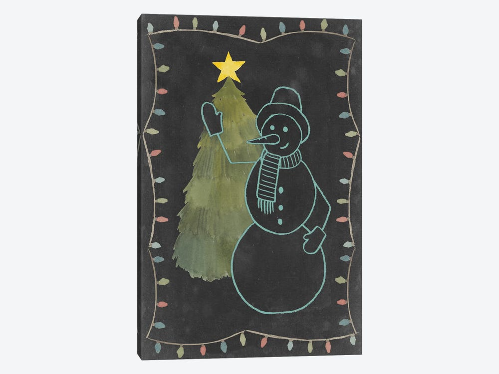 Chalkboard Snowman I by Grace Popp 1-piece Canvas Art Print