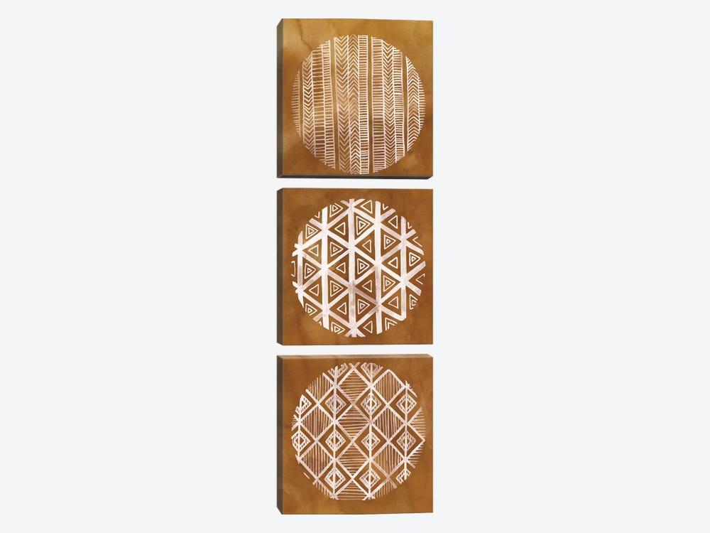 Tribal Pattern I by Grace Popp 3-piece Canvas Art Print