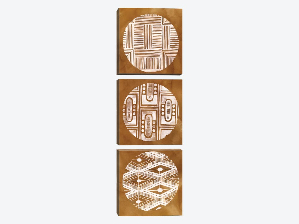 Tribal Pattern II by Grace Popp 3-piece Canvas Artwork