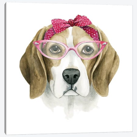 Vintage Pup I Canvas Print #POP394} by Grace Popp Canvas Print