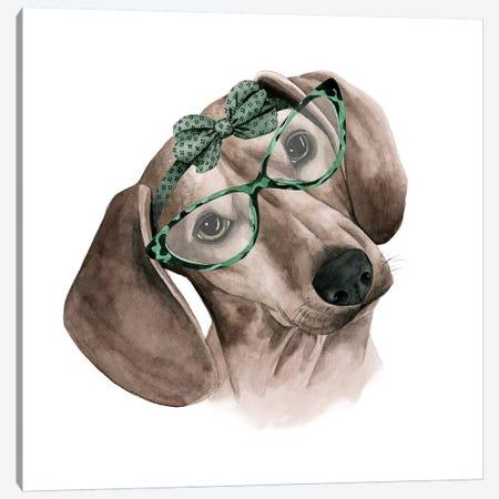 Vintage Pup III Canvas Print #POP396} by Grace Popp Art Print