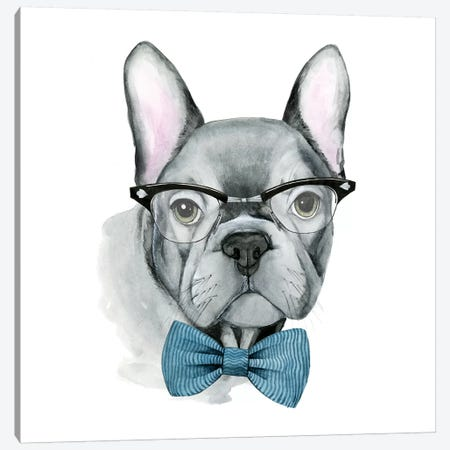 Vintage Pup IV Canvas Print #POP397} by Grace Popp Canvas Art Print