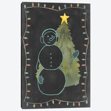 Chalkboard Snowman II Canvas Print #POP39} by Grace Popp Canvas Wall Art