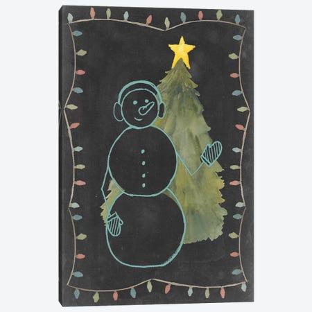 Chalkboard Snowman II Canvas Print #POP39} by Grace Popp Canvas Wall Art