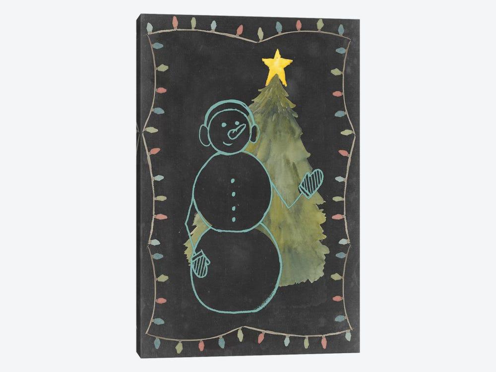 Chalkboard Snowman II by Grace Popp 1-piece Canvas Artwork