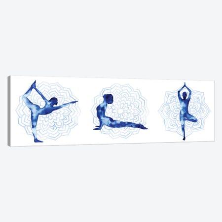 Yoga Flow Triptych Canvas Print Set #POP3HSET001} by Grace Popp Canvas Artwork