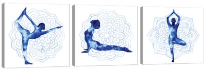 Yoga Flow Triptych Canvas Art Print