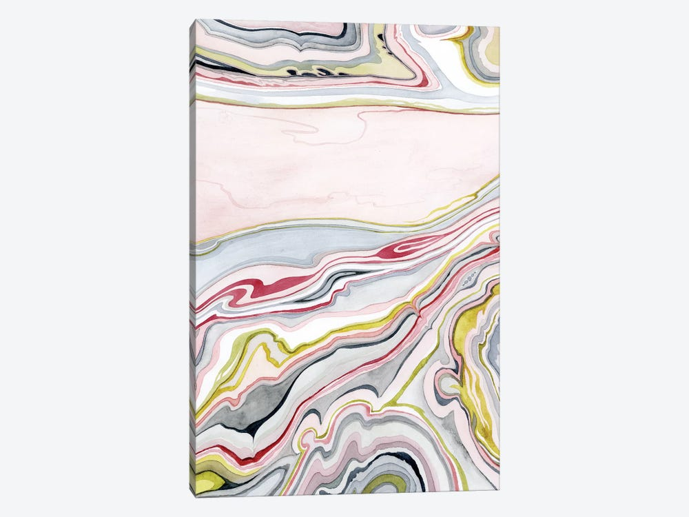 Watercolor Marbling I by Grace Popp 1-piece Canvas Art Print