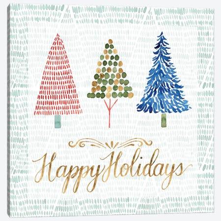 Christmas Tree Whimsy I Canvas Print #POP415} by Grace Popp Canvas Art