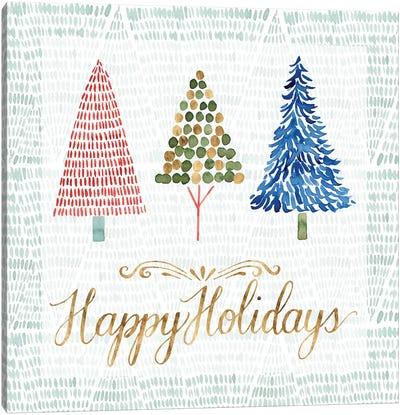 Christmas Tree Whimsy I Canvas Art Print