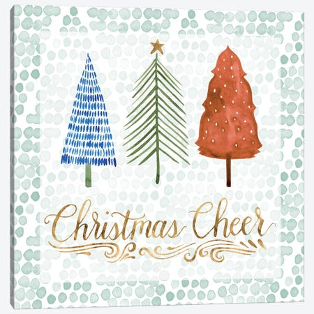 Christmas Tree Whimsy IV Canvas Print #POP418} by Grace Popp Canvas Print