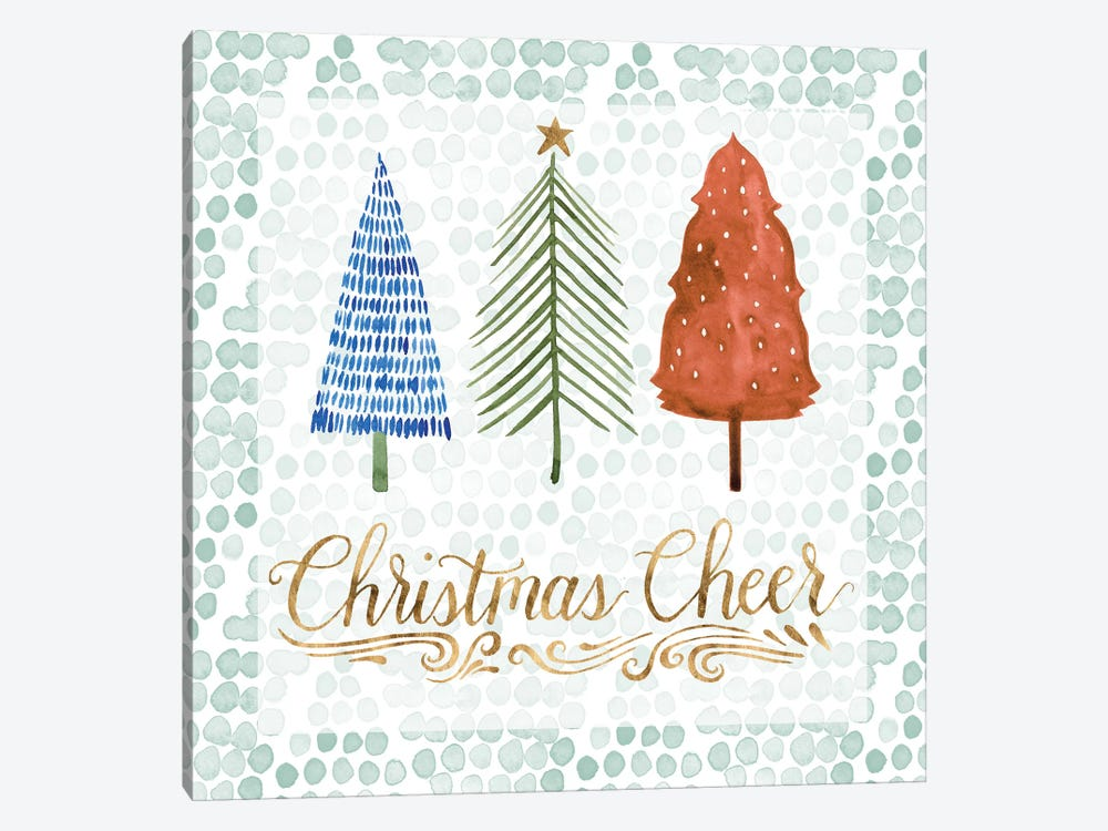 Christmas Tree Whimsy IV by Grace Popp 1-piece Canvas Wall Art