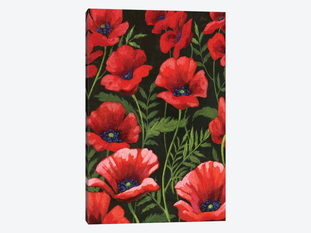 Poppies At Midnight I 1-piece Art Print