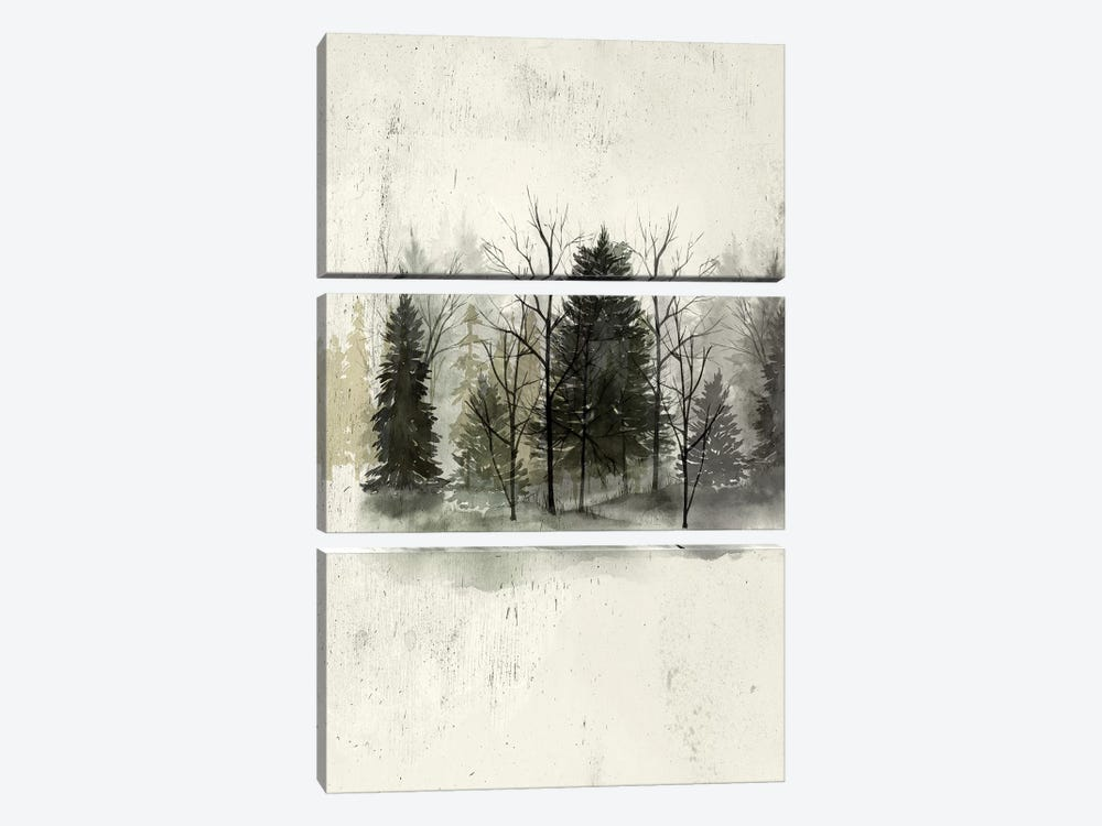 Textured Treeline I by Grace Popp 3-piece Canvas Art Print