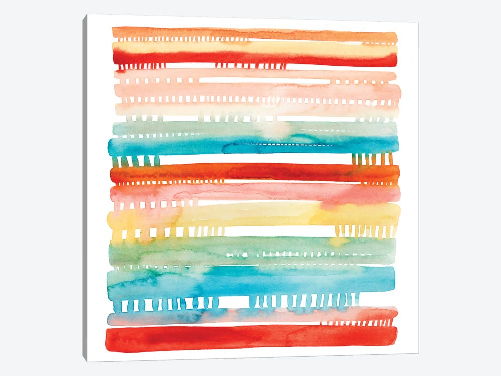 Connected Lines II by Grace Popp 1-piece Canvas Art Print