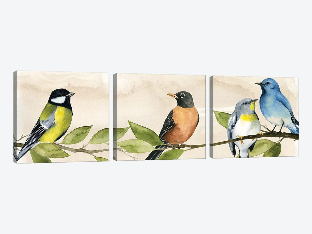 Treetop Gathering I by Grace Popp 3-piece Canvas Artwork