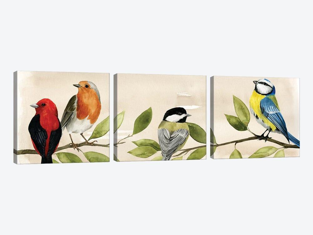 Treetop Gathering II by Grace Popp 3-piece Canvas Art Print