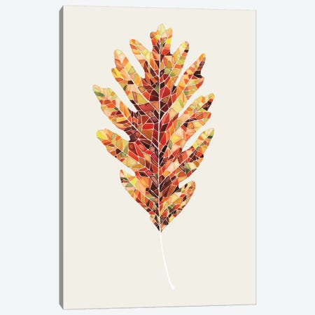 Fall Mosaic Leaf I Canvas Print #POP44} by Grace Popp Canvas Wall Art