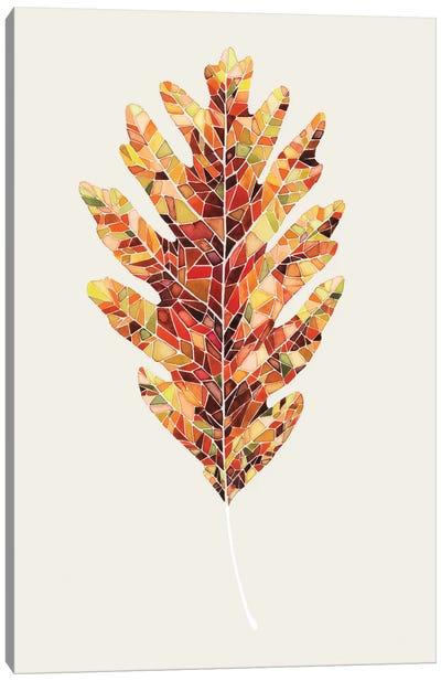 Fall Mosaic Leaf I Canvas Print #POP44