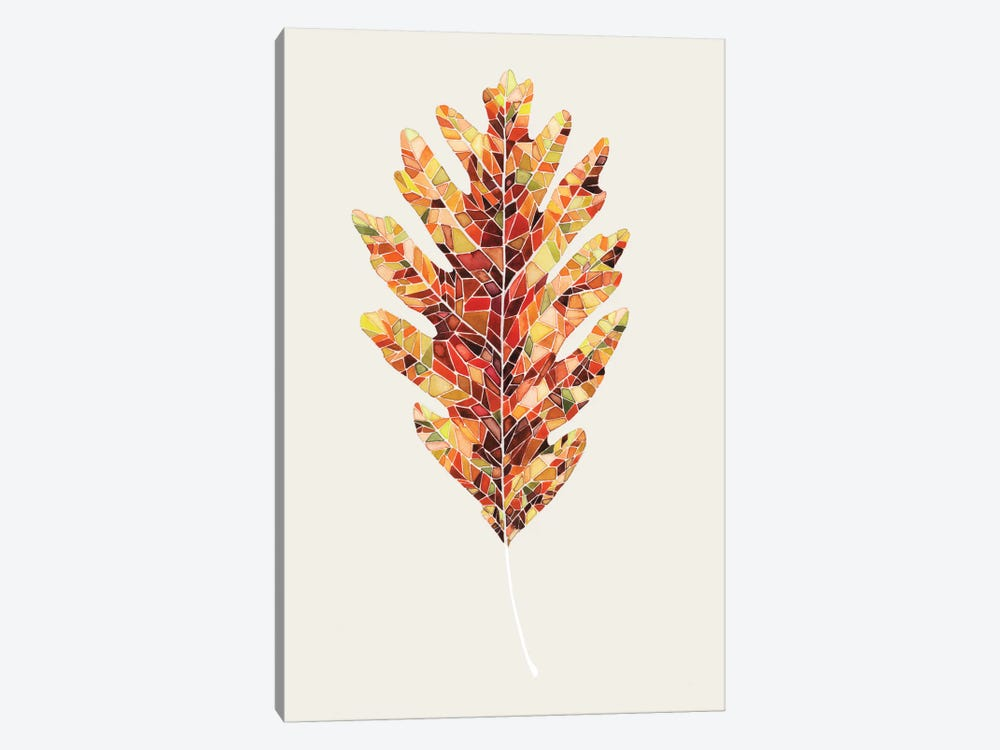 Fall Mosaic Leaf I 1-piece Canvas Art