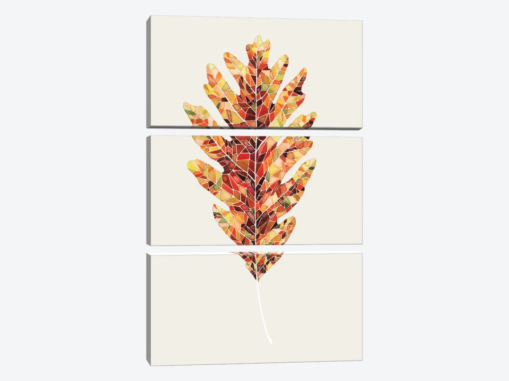 Fall Mosaic Leaf I by Grace Popp 3-piece Canvas Art