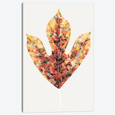 Fall Mosaic Leaf II Canvas Print #POP45} by Grace Popp Canvas Wall Art