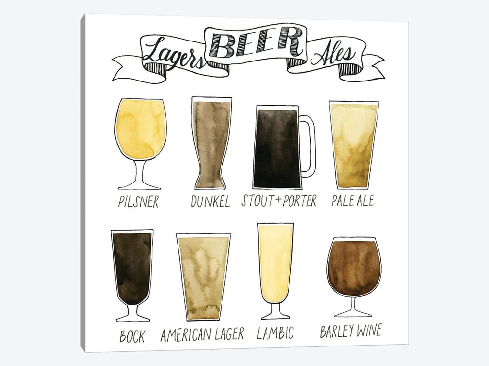 Beer Info Graphic by Grace Popp 1-piece Canvas Art